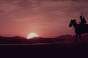Assassins Creed Origins Sunset Time 4k