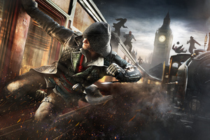 Assassins Creed Syndicate Train Banner 8k Wallpaper