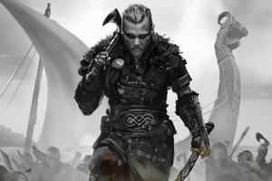 Assassins Creed Valhalla Game Monochrome