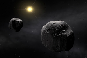 Asteroid Planets Dark Night 4k Wallpaper