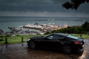 Aston Martin Db11 Rain Outside In Nature