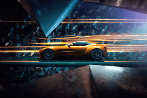 Aston Martin Golden Ride 4k Wallpaper
