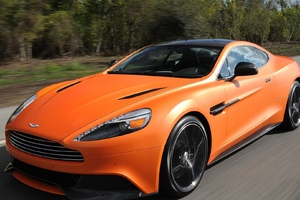 Aston Martin Vanquish Orange Matte Wallpaper
