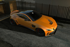 Aston Martin Vantage Mp6 Orange 4k