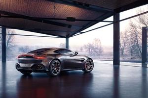 Aston Martin Vantage Rear Wallpaper