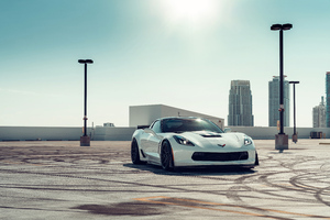 Aston Martin Vossen White Vette Grand Sport 2 8k