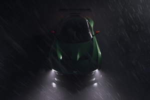 Aston Martin Vulcan In The Rain