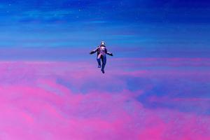 Astronaut Falling 4k