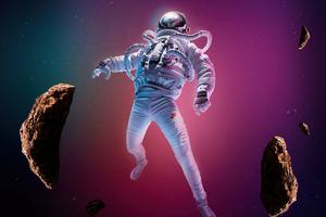 Astronaut Falling Sky 8k Wallpaper