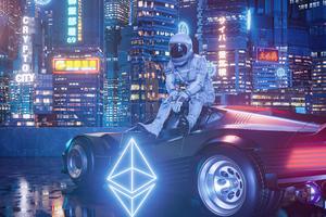 Astronaut In Crypto City 5k