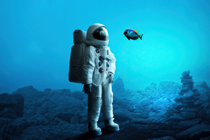 Astronaut In Ocean 4k Wallpaper