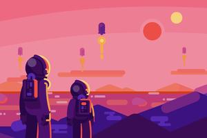 Astronaut Landscape 4k