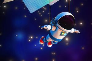 Astronaut Minimal 4k Wallpaper