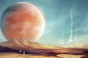 Astronaut On Mars 4k