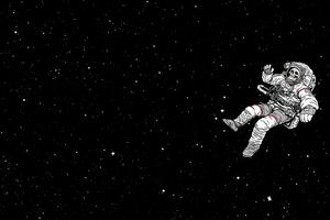 Astronaut Skull Sky Falling Dark 4k Wallpaper