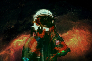 Astronaut Space Abstract