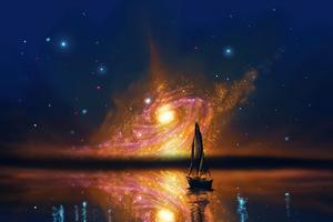 Astronomy Exo Planet Boat Scenery 5k
