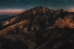 Astronomy Mountains Wallpaper