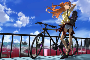 Asuka Bicycle 4k Wallpaper