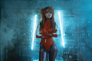 Asuka Langley Soryu Cosplay 4k Wallpaper