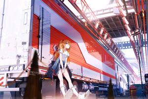 Asuka Langley Soryu Waiting 4k Wallpaper