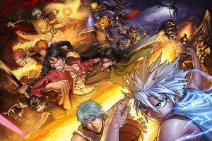 Atemu Bleach Crossover Dragonball Naruto Wallpaper