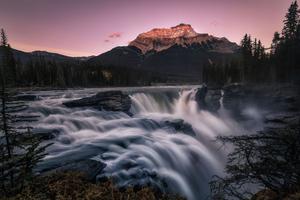 Athabasca Falls 5k Wallpaper