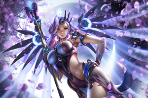 Atlantic Mercy Overwatch Fantasy 5k Wallpaper