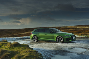 Audi 2020 RS 4 Avant Green 5k Wallpaper