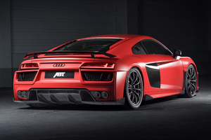 Audi Abt R8 Rear Wallpaper