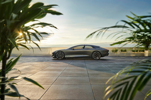 Audi Grandsphere Side View 10k Wallpaper