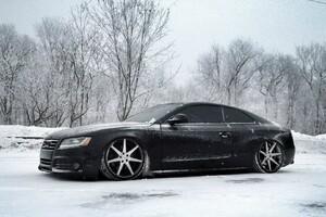 Audi In Snow