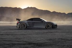 Audi R8 Dry Lake 5k Wallpaper