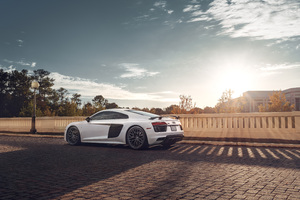 Audi R8 Rear 2020 Wallpaper