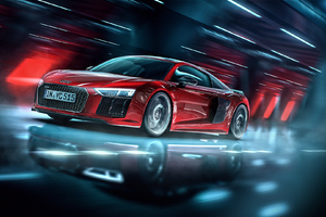 Audi R8 Red Car Wallpaper