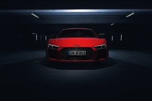 Audi R8 V10 Plus 2018 Front Look 4k Wallpaper