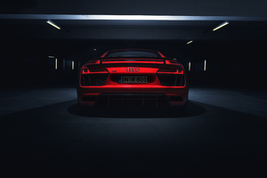 Audi R8 V10 Plus 2018 Rear Look 4k Wallpaper
