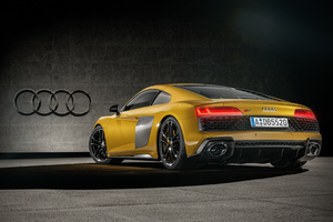 Audi R8 Yellow 2020 Wallpaper