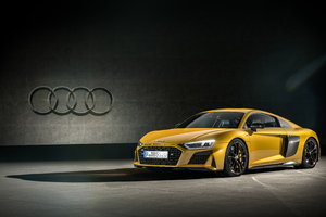 Audi R8 Yellow 4k Wallpaper