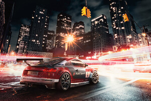 Audi Rs3 Digital Art Wallpaper