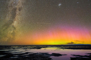 Aurora Australis Over Birdlings Flat New Zealand 5k Wallpaper