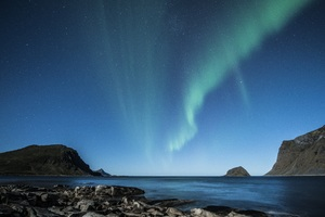 Aurora Borealis Beach 5k Wallpaper
