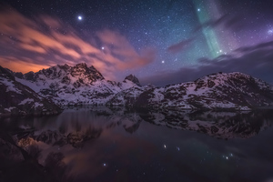 Aurora Constellations Sky Nature 4k
