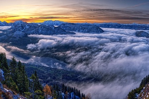 Austria Cloud Horizon Landscape Mountain Nature Panorama Shoot 4k