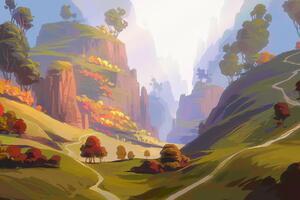 Autumn Hills 5k Wallpaper