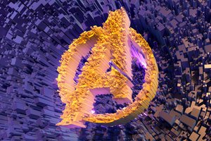 Avengers Abstract Logo Wallpaper