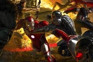 Avengers Age Of Ultron Artwork 8k Wallpaper