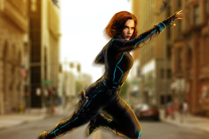 Avengers Age Of Ultron Black Widow Artwork
