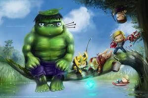 Avengers As Kid Wallpaper