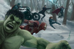 Avengers Assemble Fanart Wallpaper
